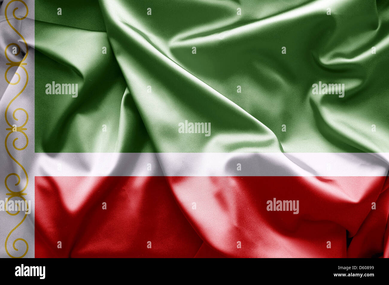 Flag of Chechen (Russia) Stock Photo