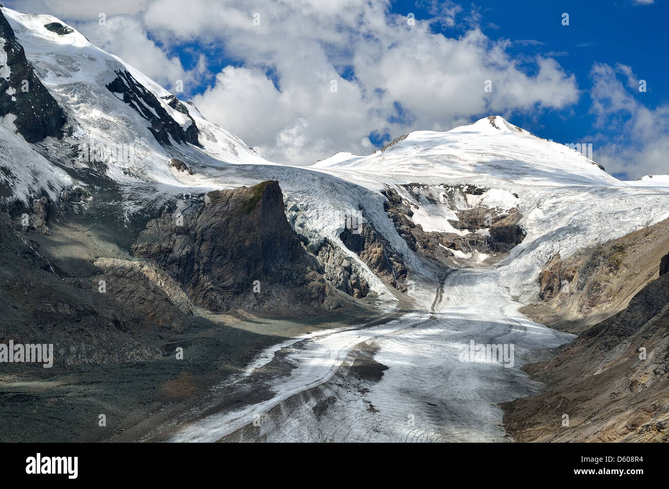 The Pasterze, Austria's biggest glacier, lies at the Grossglockner's foot (3798 m height) - Stock Image