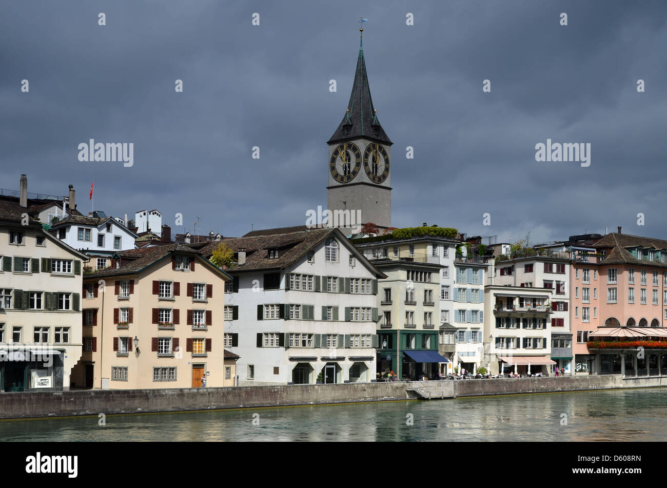 Zurich in Switzerland, medieval city - Stock Image