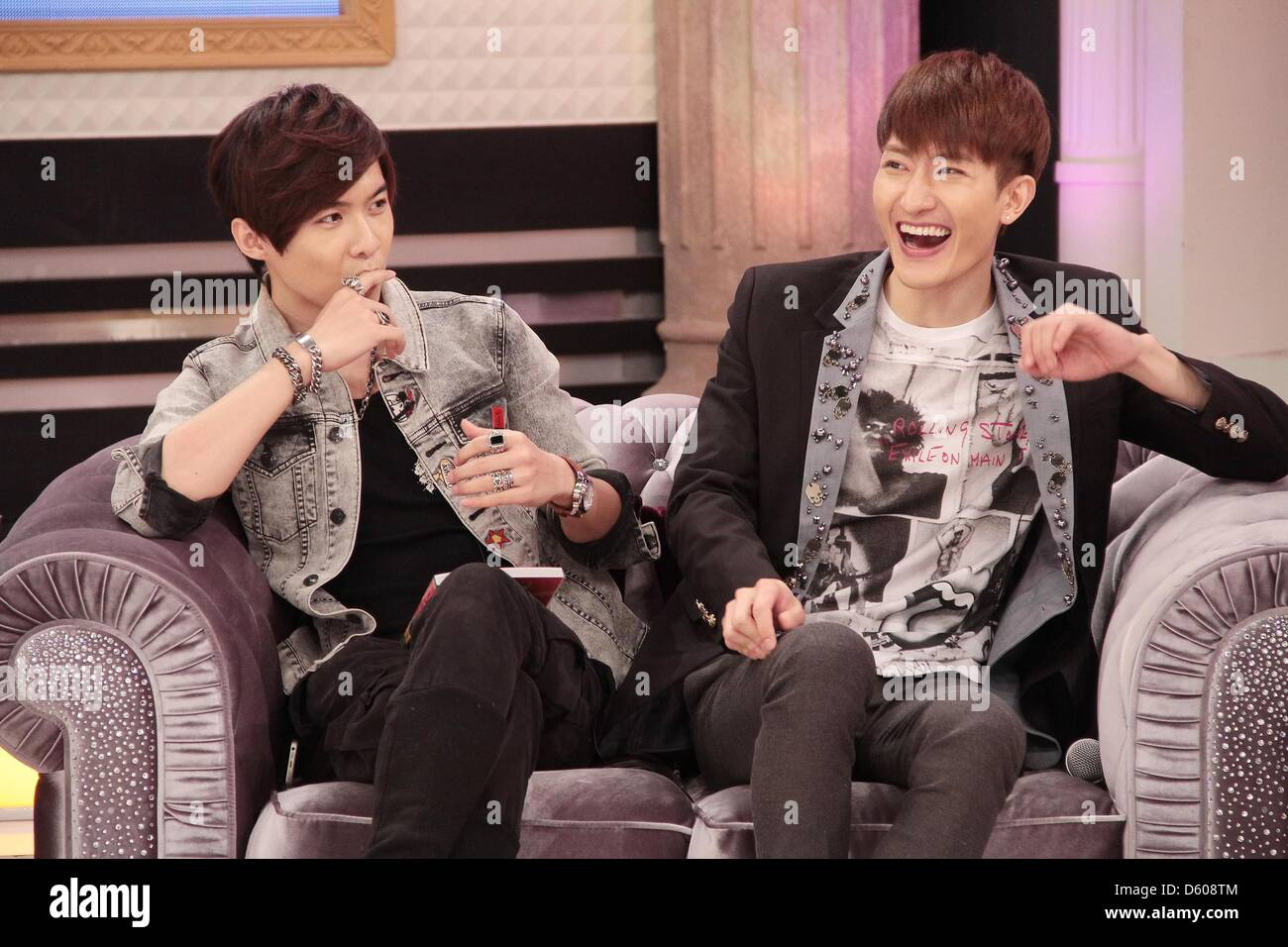 Zhou Mi, member of Super Junior M, attended SS Night Show with his
