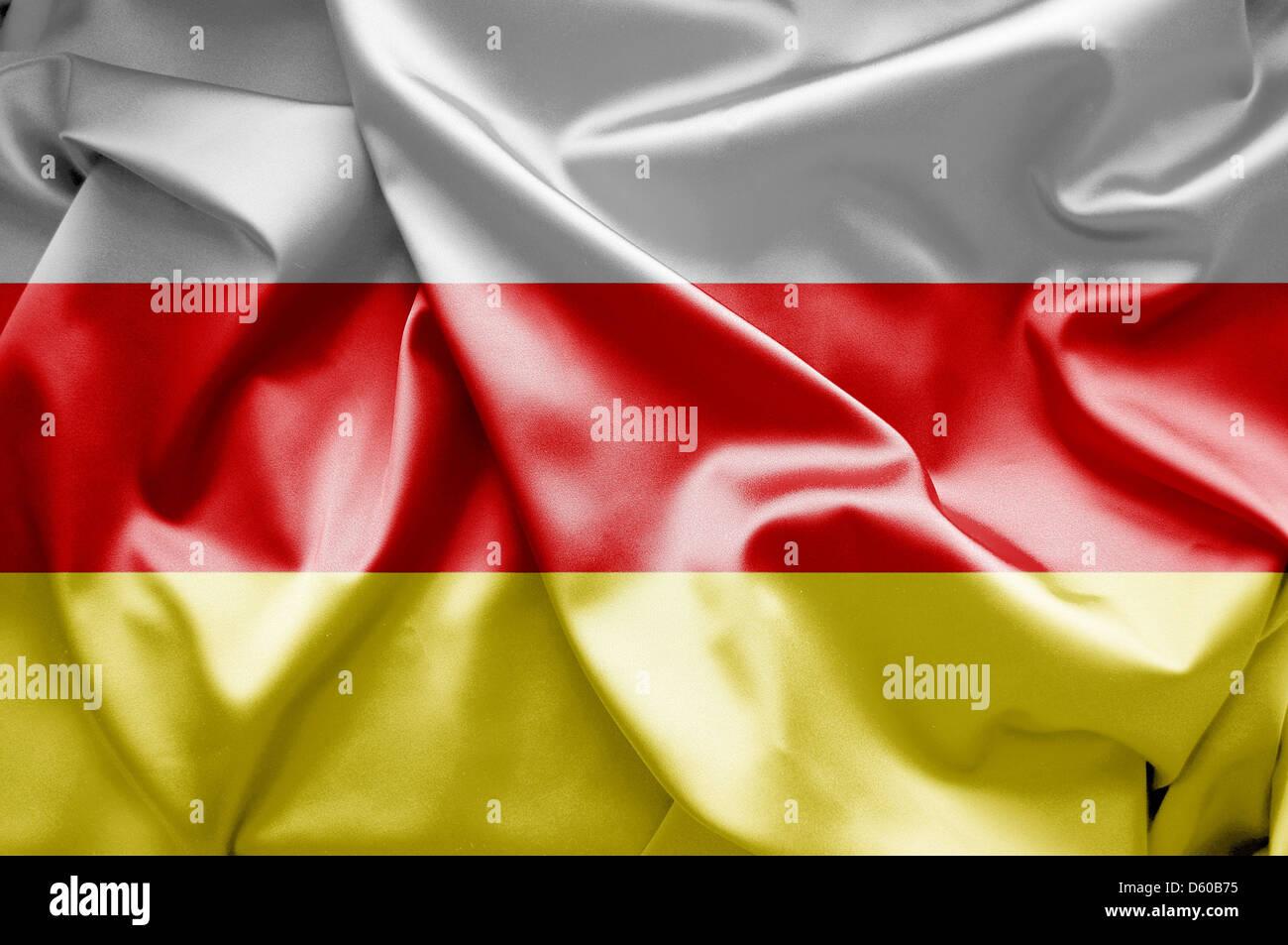 Flag of North Ossetia-Alania (Russia) - Stock Image
