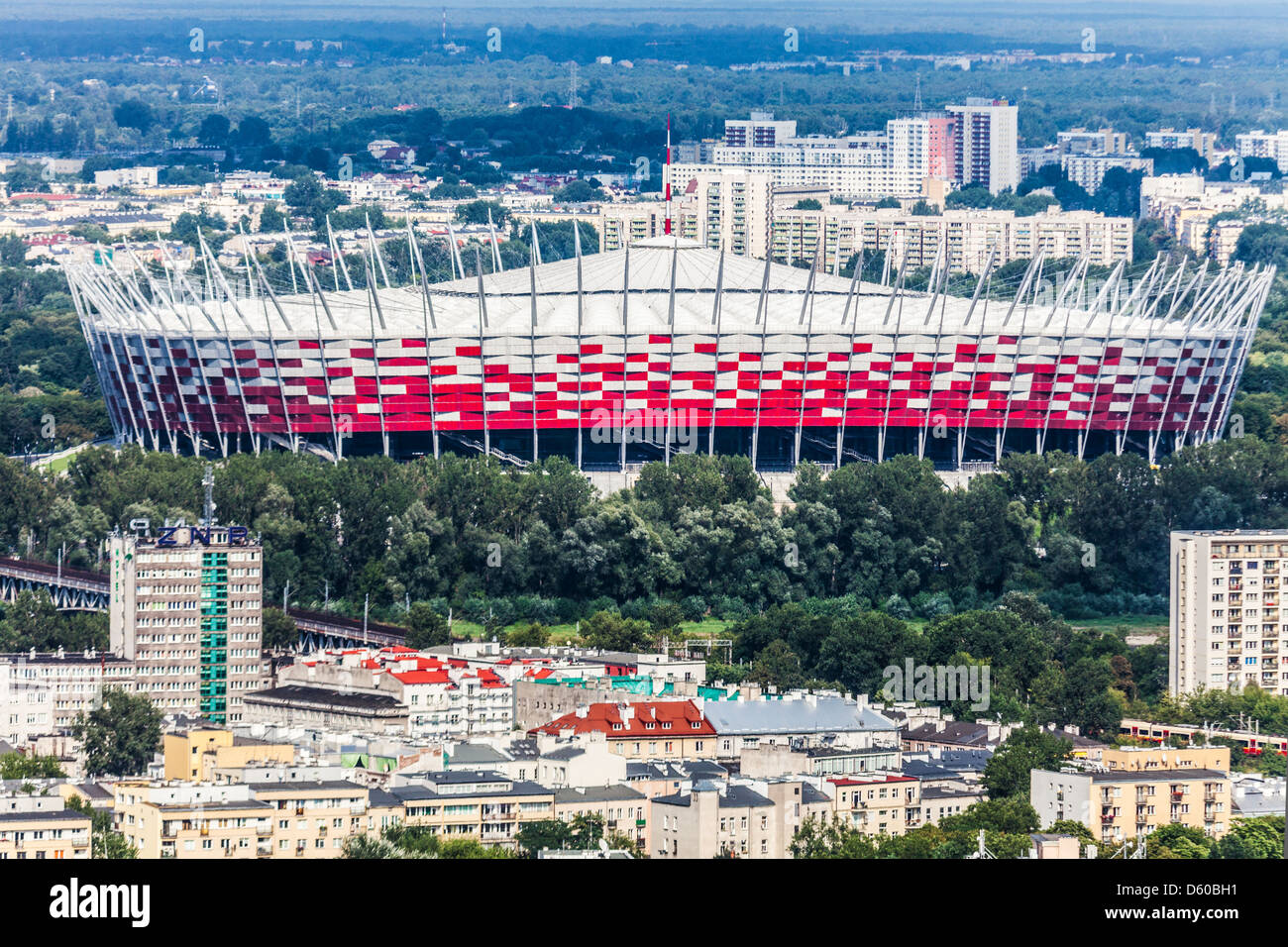View of the National Stadium, Stadion Narodowy in Warsaw, Poland. - Stock Image