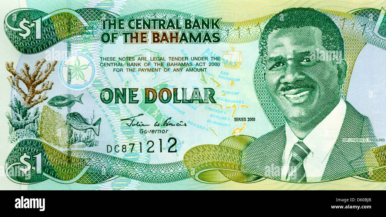 Bahamas 1 One Dollar Bank Note Stock Photo 55328179 Alamy
