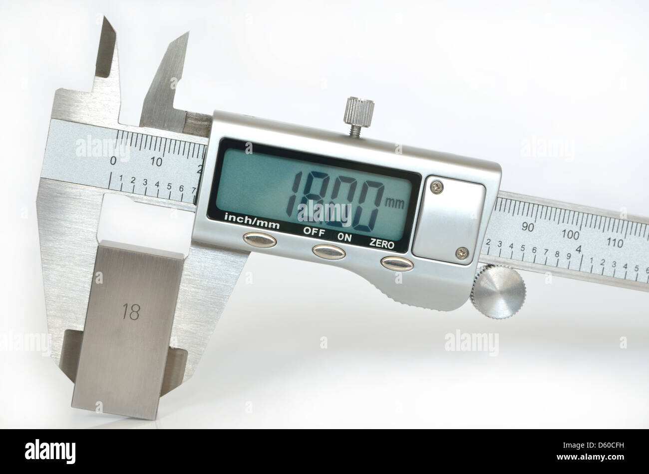 Electronic digital caliper - Stock Image