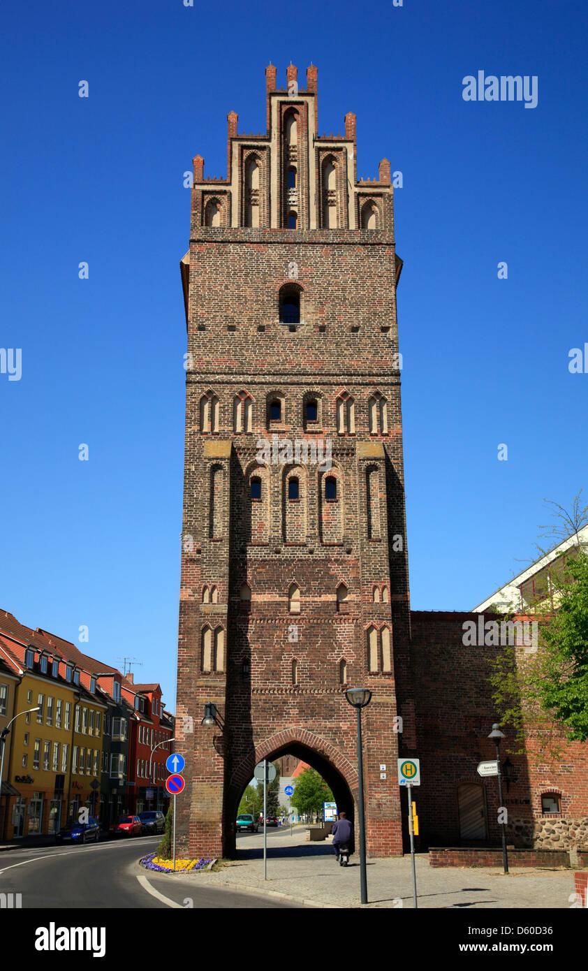 Steintor, Anklam, Mecklenburg Western Pomerania, Germany - Stock Image