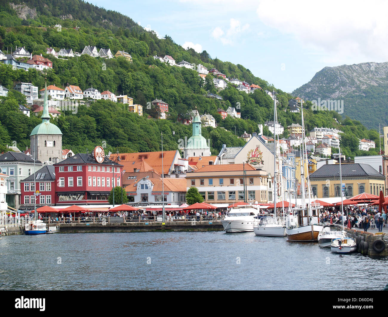 The center of Bergen,Norway - Stock Image
