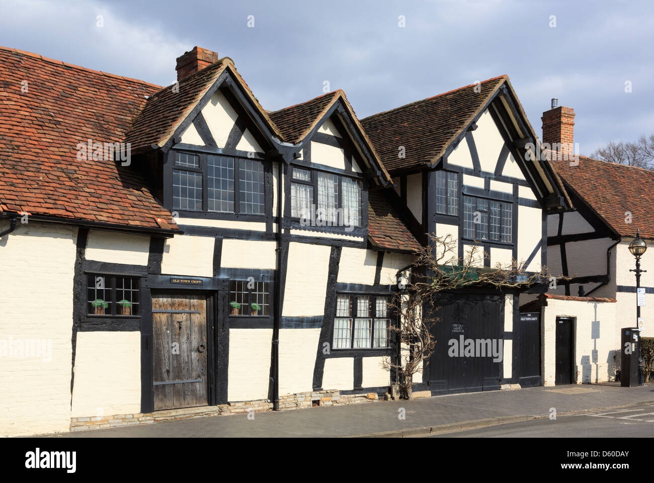 16th century Old Town Croft timbered house grade II listed building in Stratford-upon-Avon, Warwickshire, England, Stock Photo