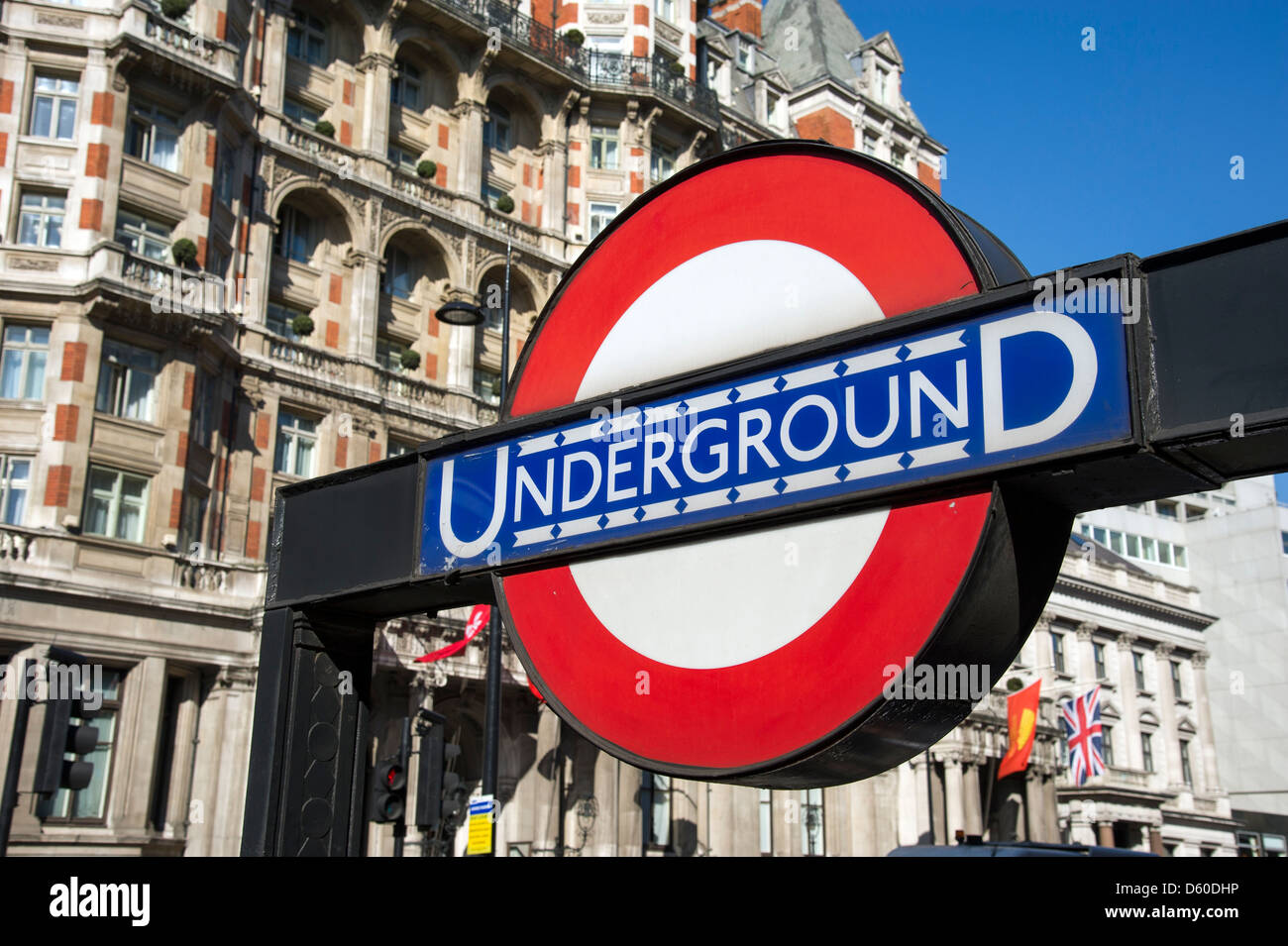 London Underground sign, UK - Stock Image