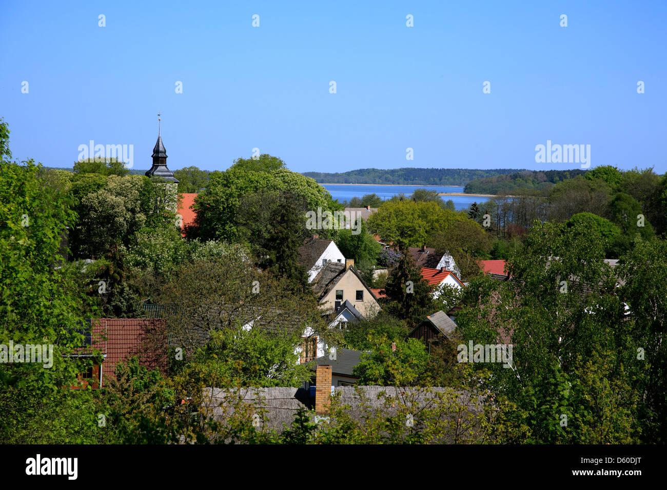 Village Benz, Usedom Island, Mecklenburg Western Pomerania, Germany - Stock Image