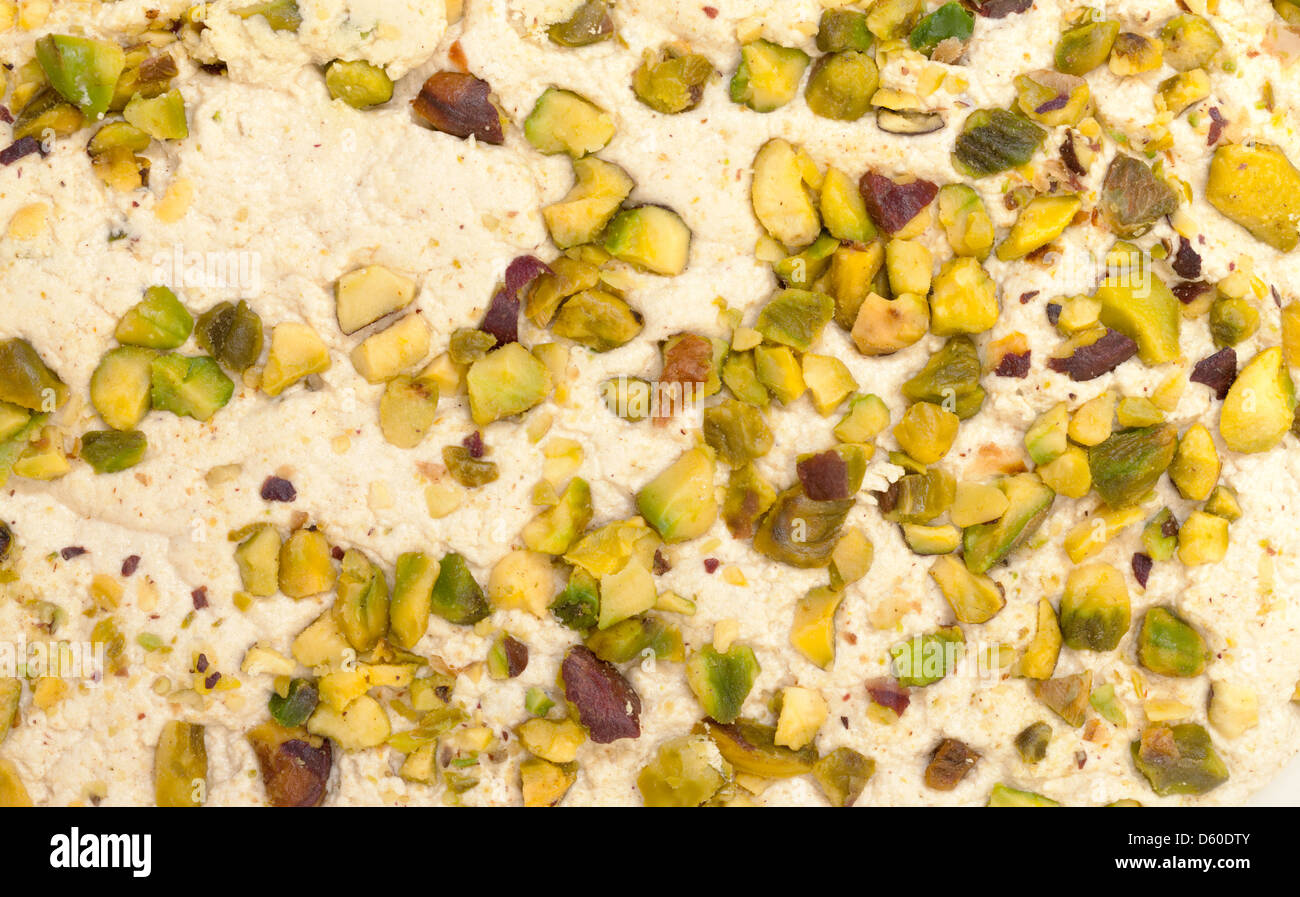 Halva with pistachios Stock Photo
