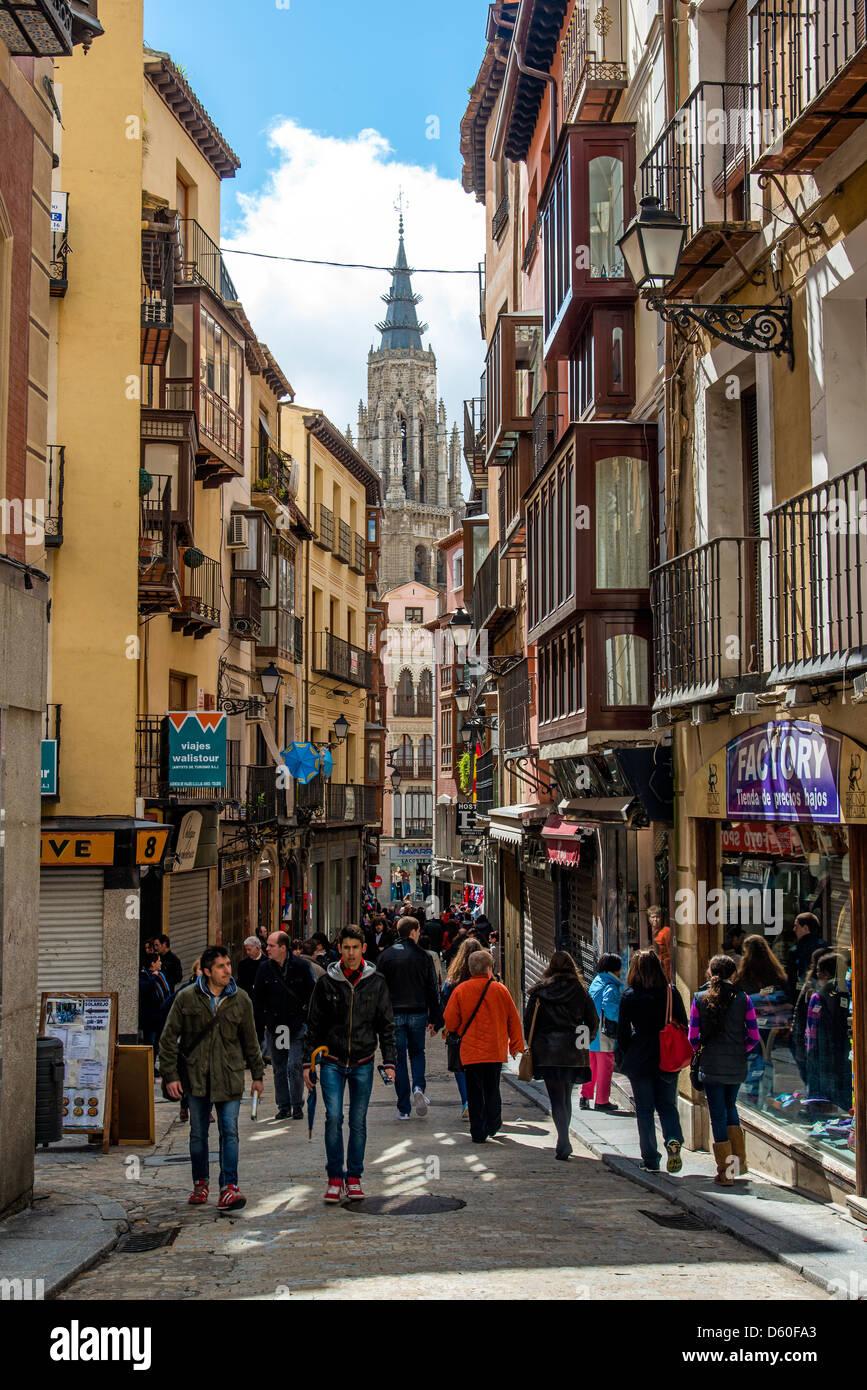 Calle del Comercio street, Toledo, Castile La Mancha, Spain - Stock Image