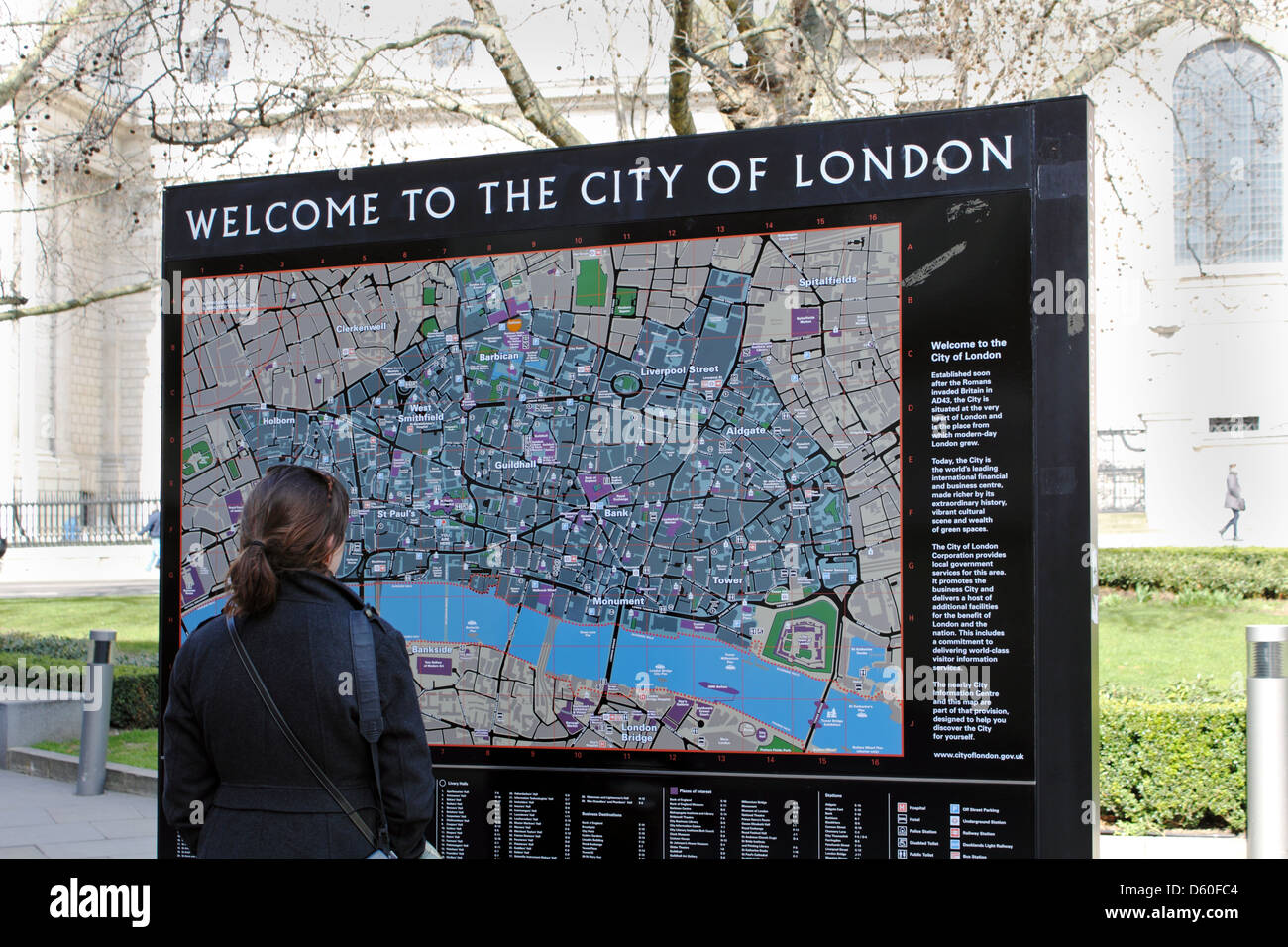 Map Of City Of London Uk.City Of London Tourist Map London England Uk Stock Photo 55331140