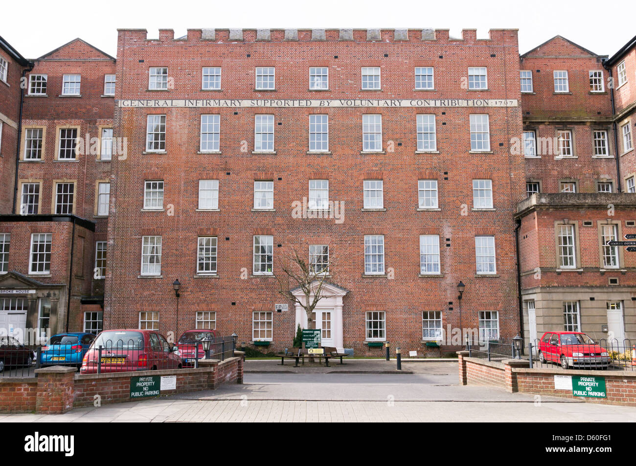 Tall Brick Built Apartment Building Converted From The Old Salisbury  Infirmary Hospital