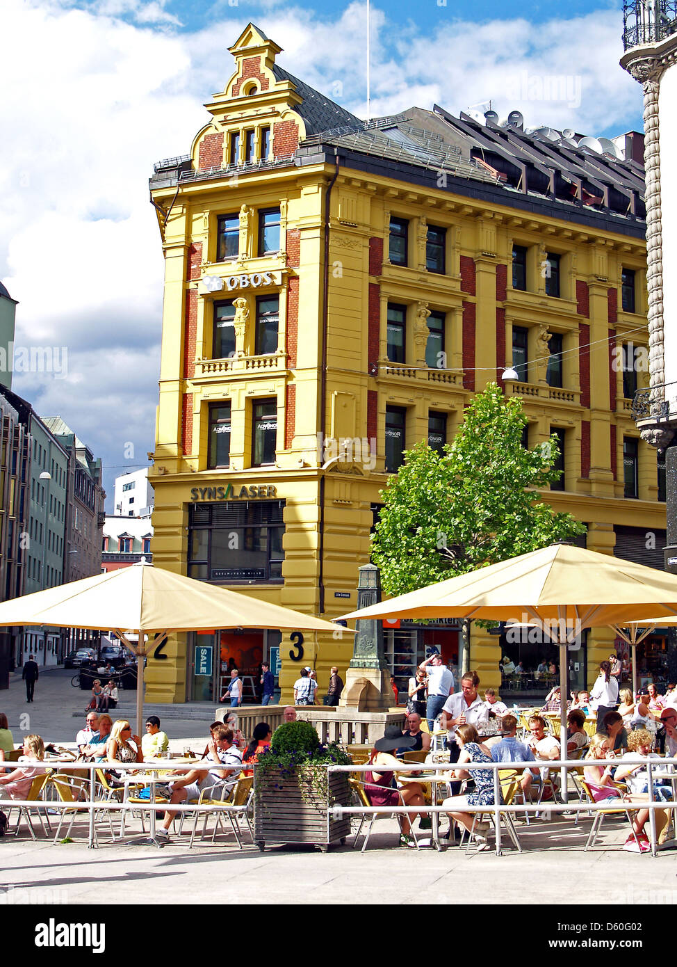 0881bfe5 The Neoclassical buildings along Karl Johans Gate, Oslo,Norway - Stock Image
