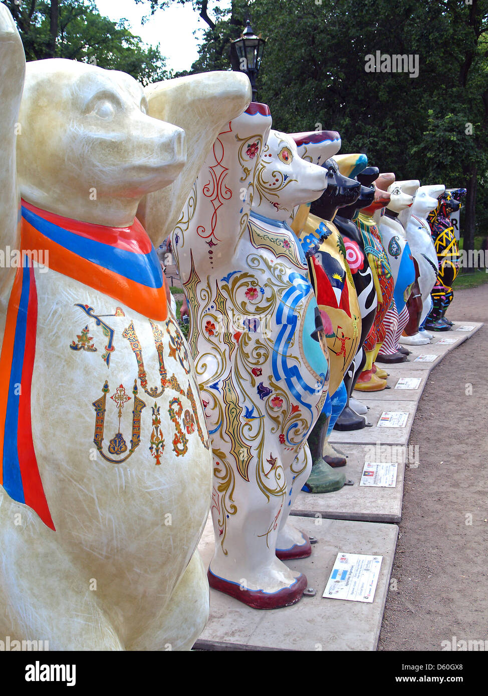 The United Buddy Bears in St.Petersburg - Stock Image