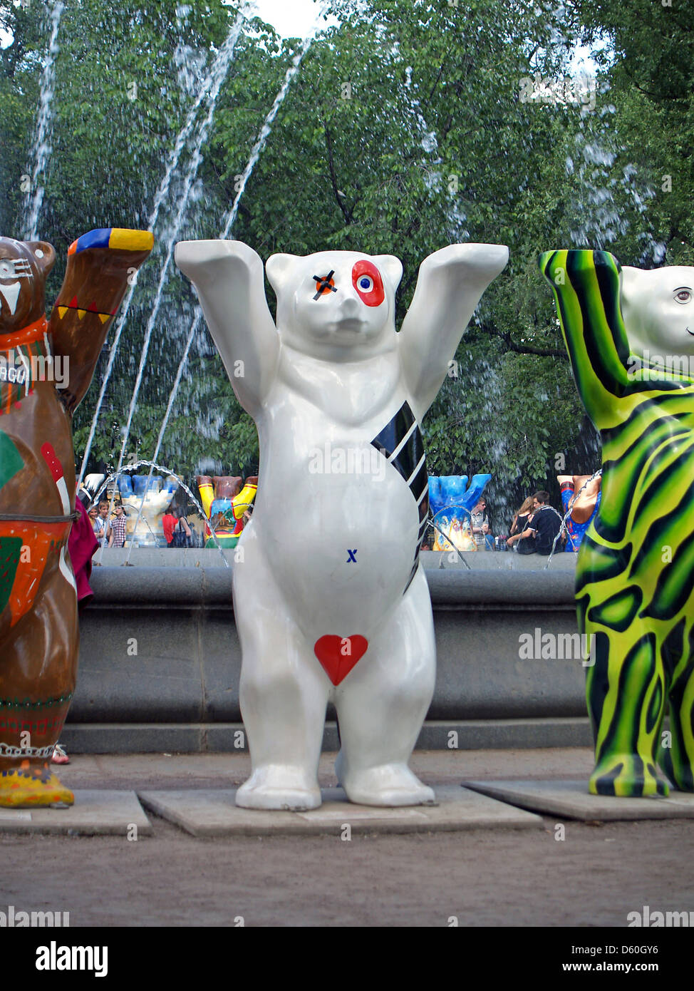 A United Buddy Bears exhibit in St.Petersburg,Russia - Stock Image