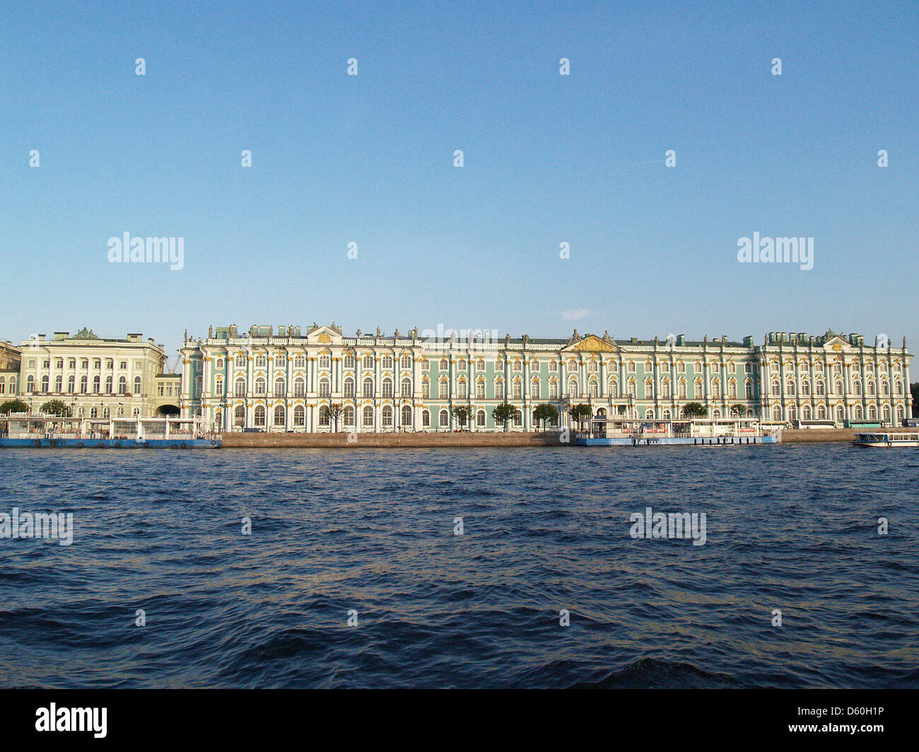 The Hermitage Museum from the Neva River,St.Petersburg - Stock Image