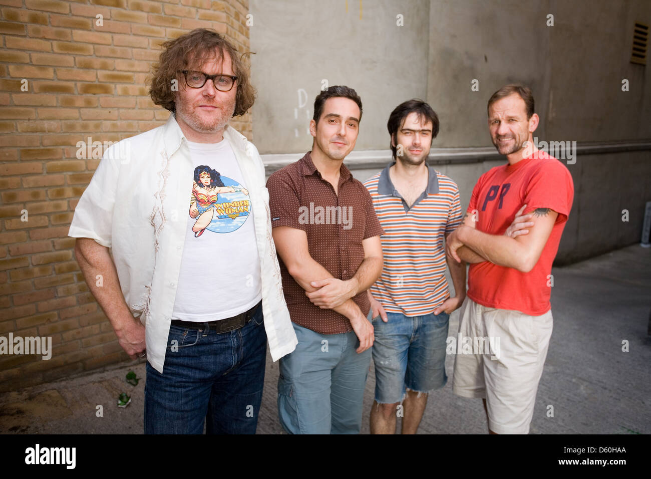Cud, English indie band photographed in Old Street , London, England. Stock Photo
