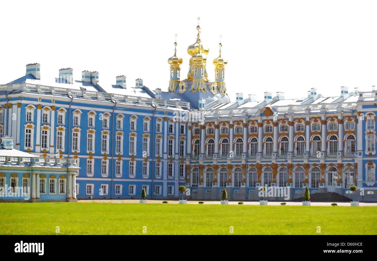 Catherine Palace, Tsarskoe Selo,Pushkin - Stock Image
