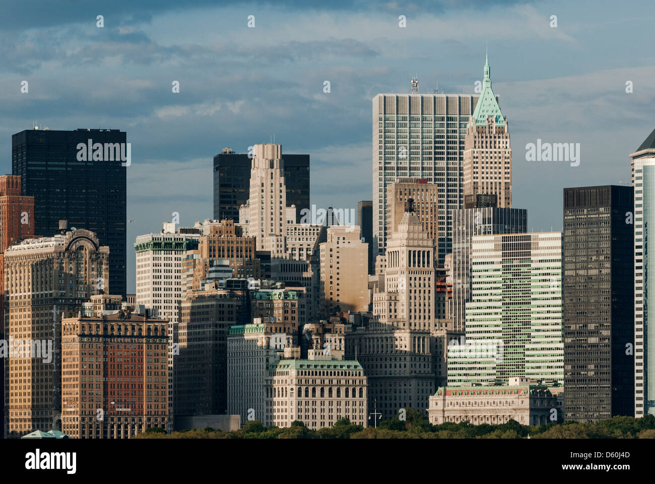 Downtown Manhattan Skyline without the former World Trade Center, New York City Stock Photo