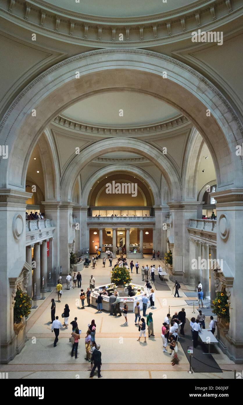 The Great Hall, Metropolitan Museum of Art, New York City, New York, USA Stock Photo