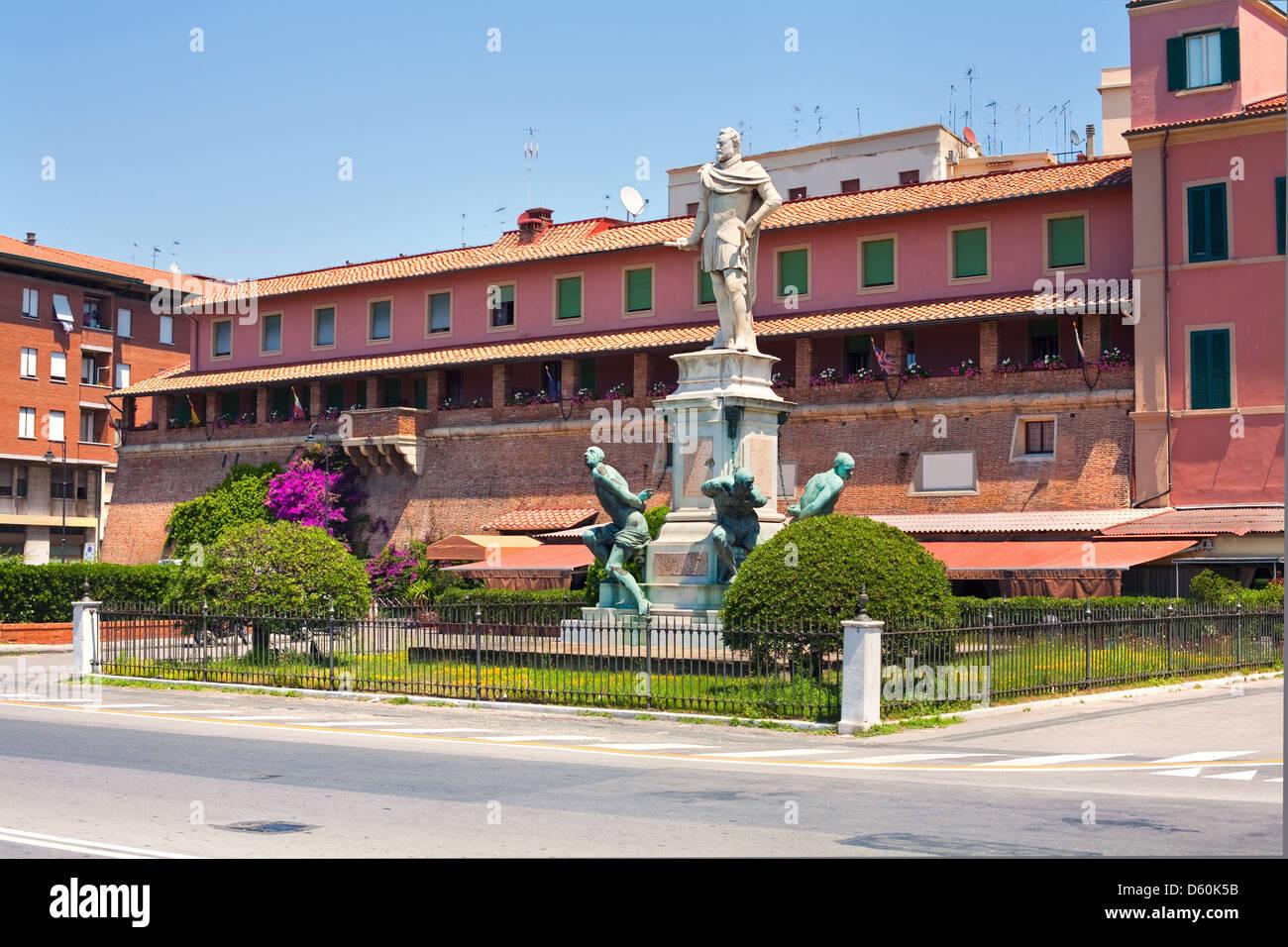 Monumento dei Quattro Mori, Livorno - Stock Image