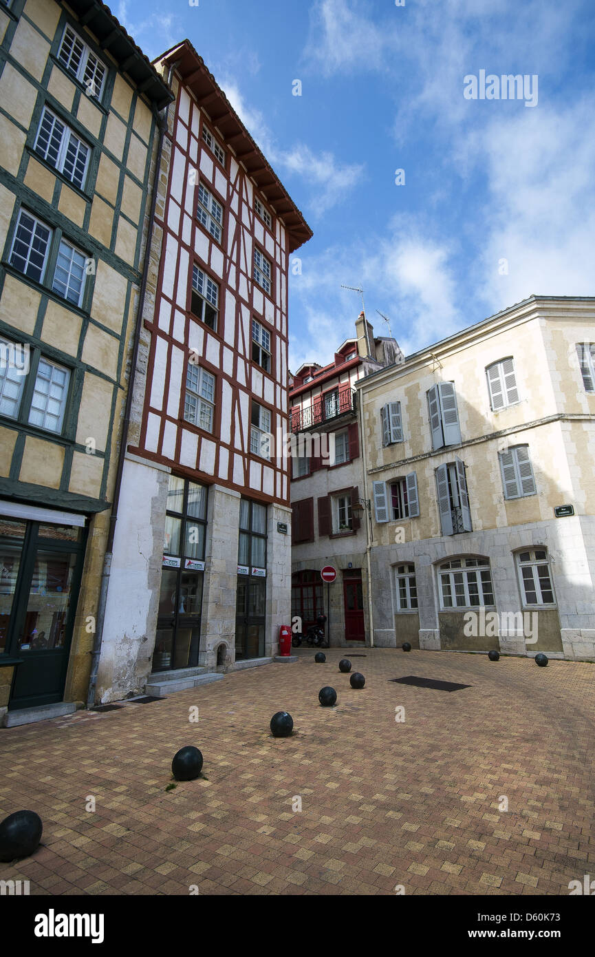 Architecture in Bayonne, Aquitaine, Southwestern France - Stock Image