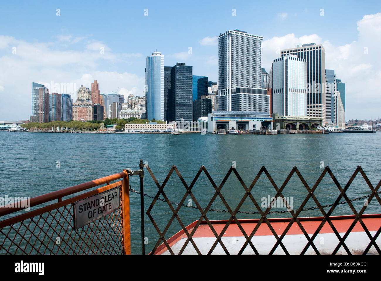 Lower Manhattan Skyline without the former World Trade Center, New York City Stock Photo
