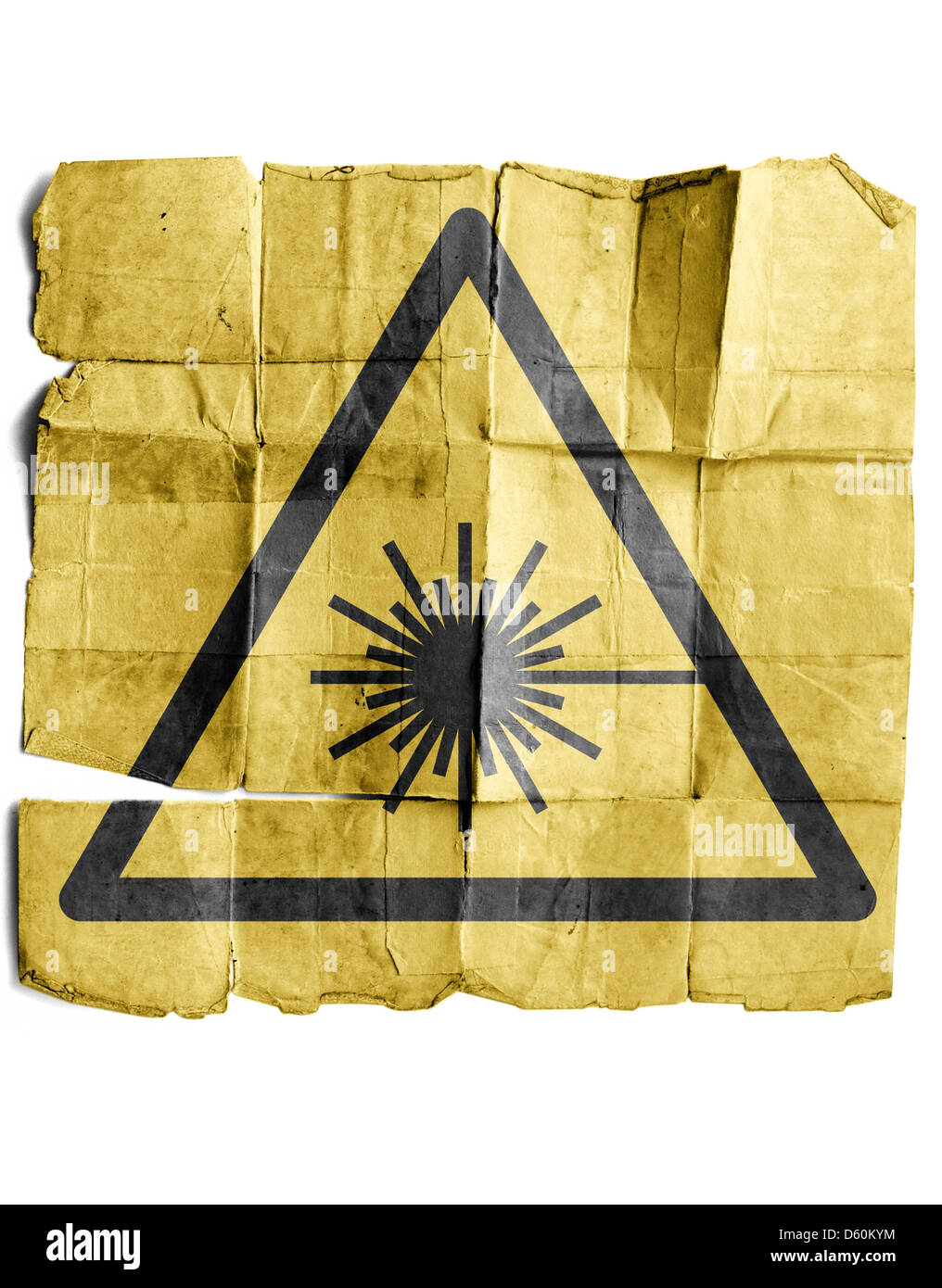Symbol For Laser Warning Sign Stock Photo 55334712 Alamy