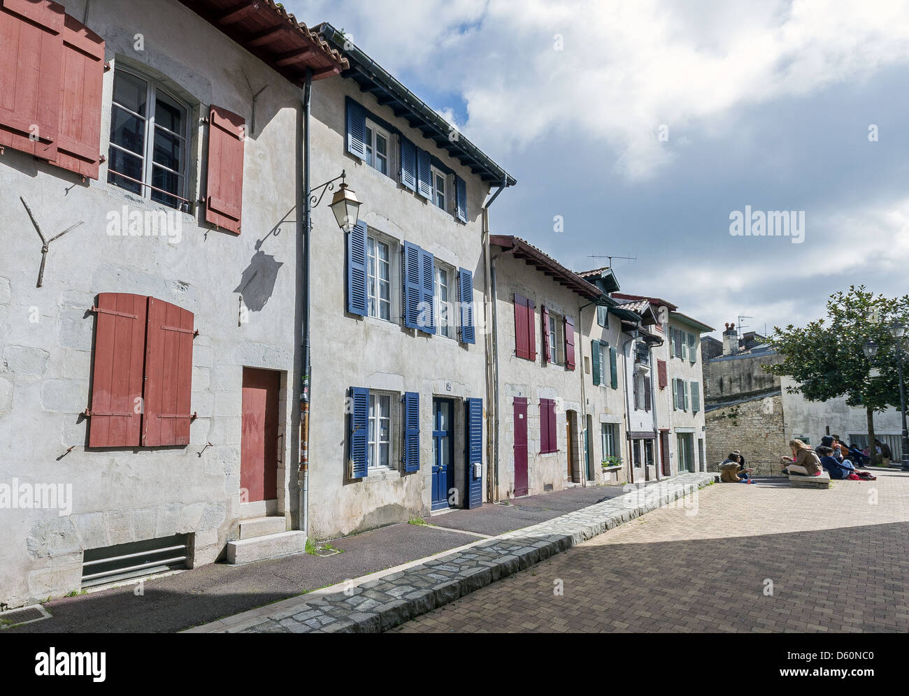Traditional French Houses In Bayonne Aquitaine Southwestern France