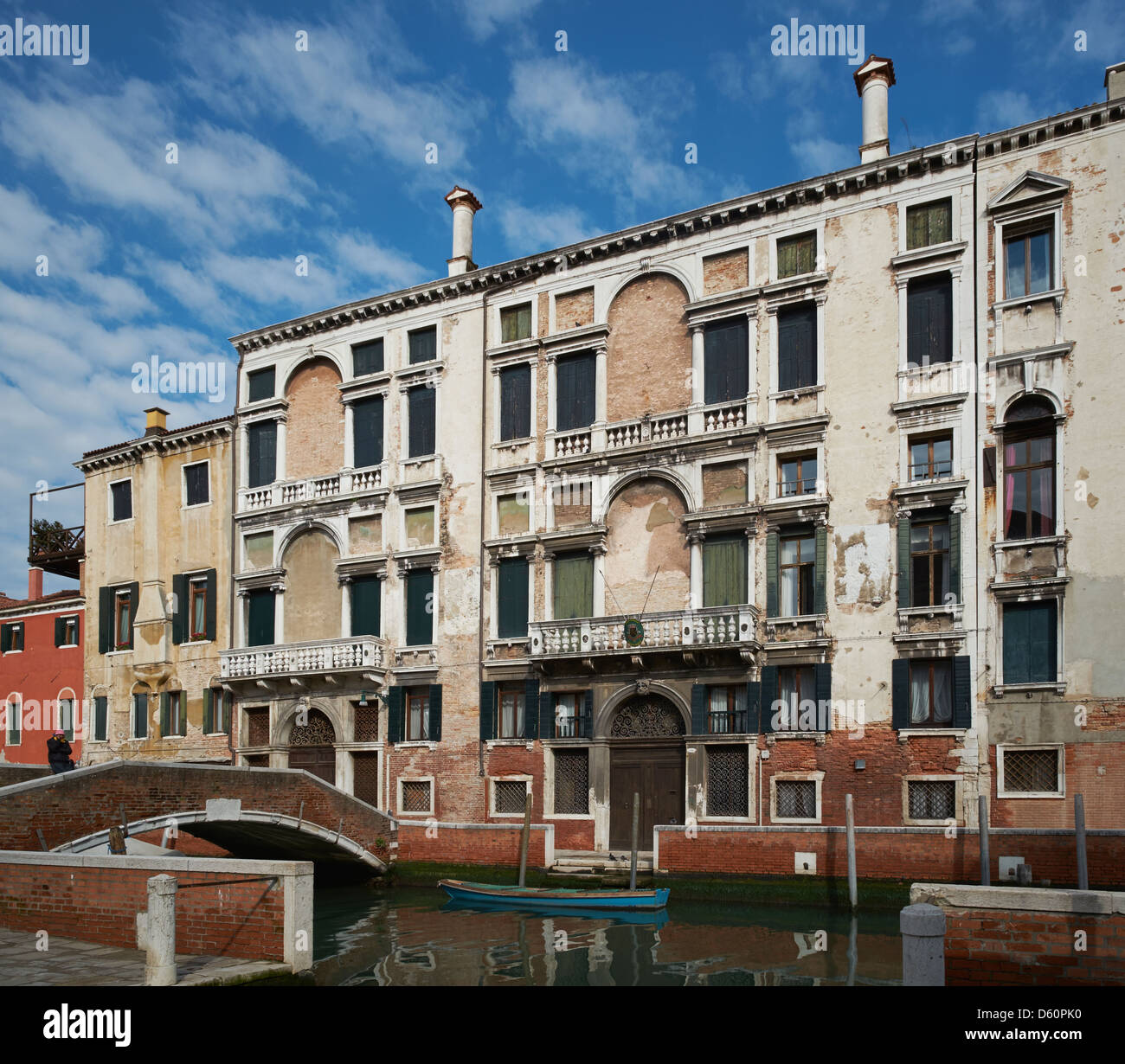 Palazzo Foscarini, Venice. Inherited by Marco Foscarini Doge in 1762. Now the building of the Belgian Consulate - Stock Image