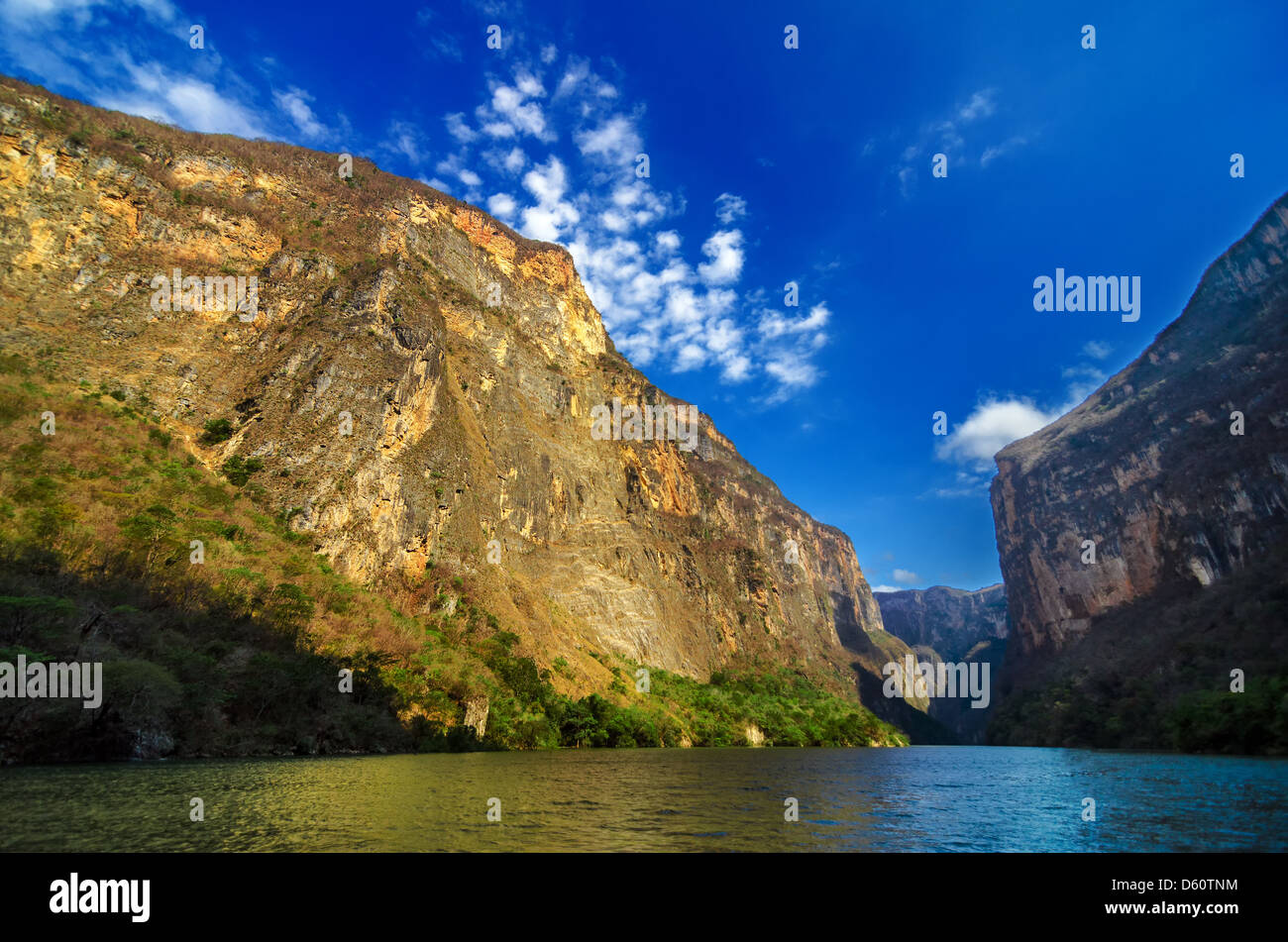 Inside Sumidero Canyon near Tuxtla Gutierrez in Chiapas, Mexico - Stock Image