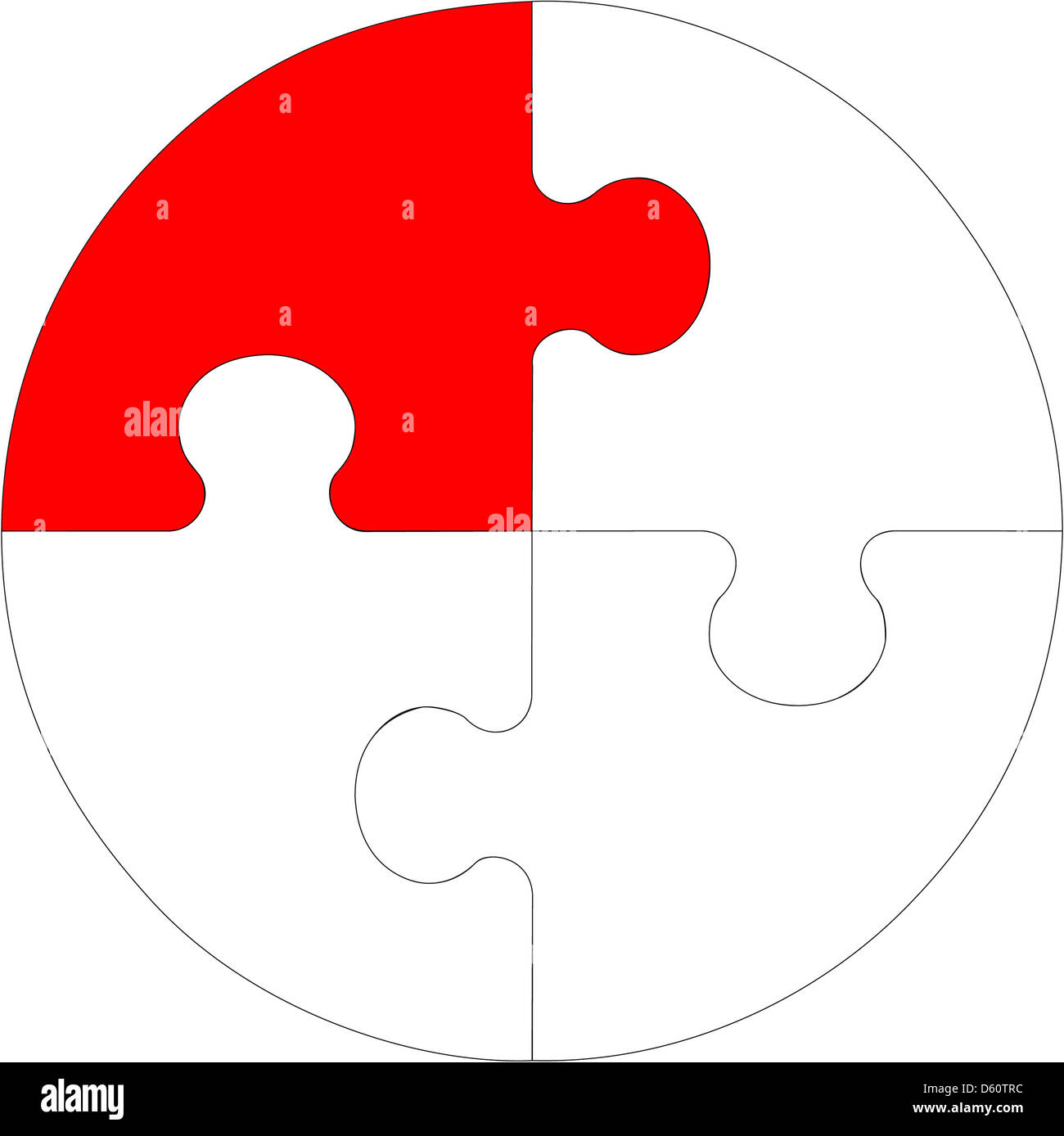 Abstract puzzle 10 - Stock Image