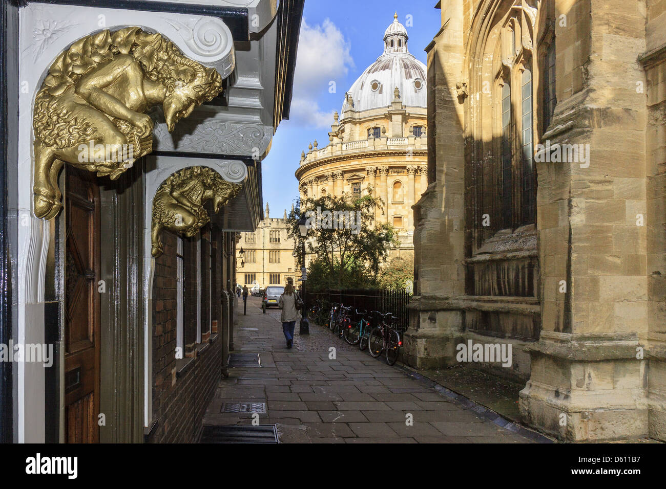 Figure Of God Pan Oxford UK - Stock Image