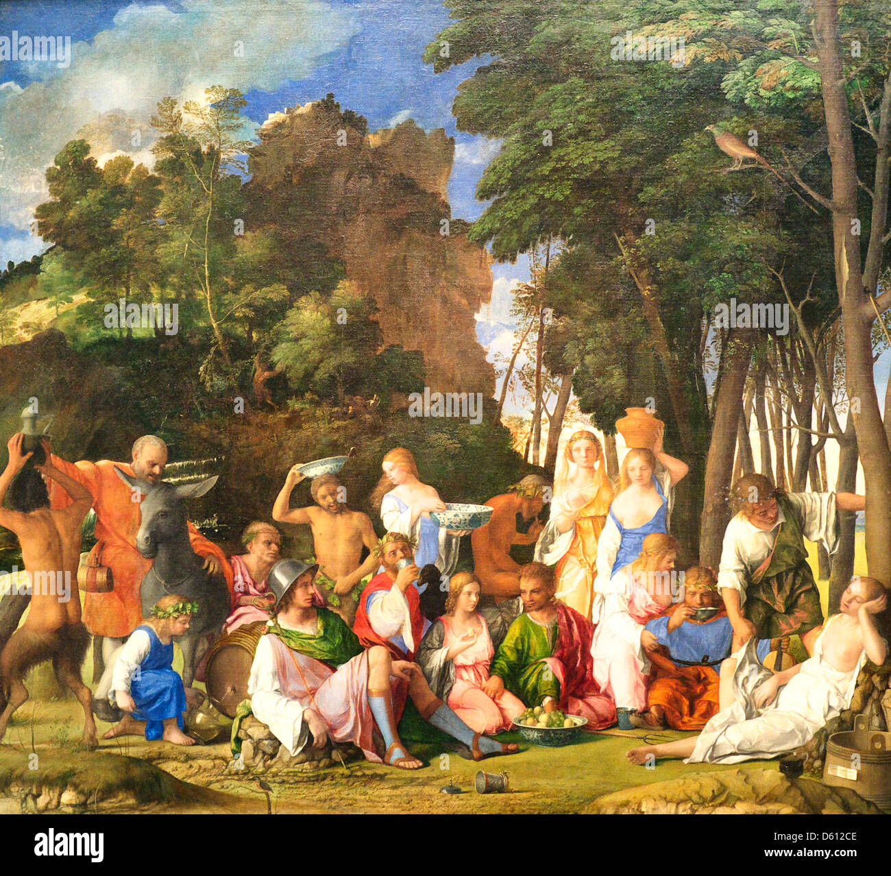The Feast of the Gods - Giovanni Bellini and Titian - Stock Image