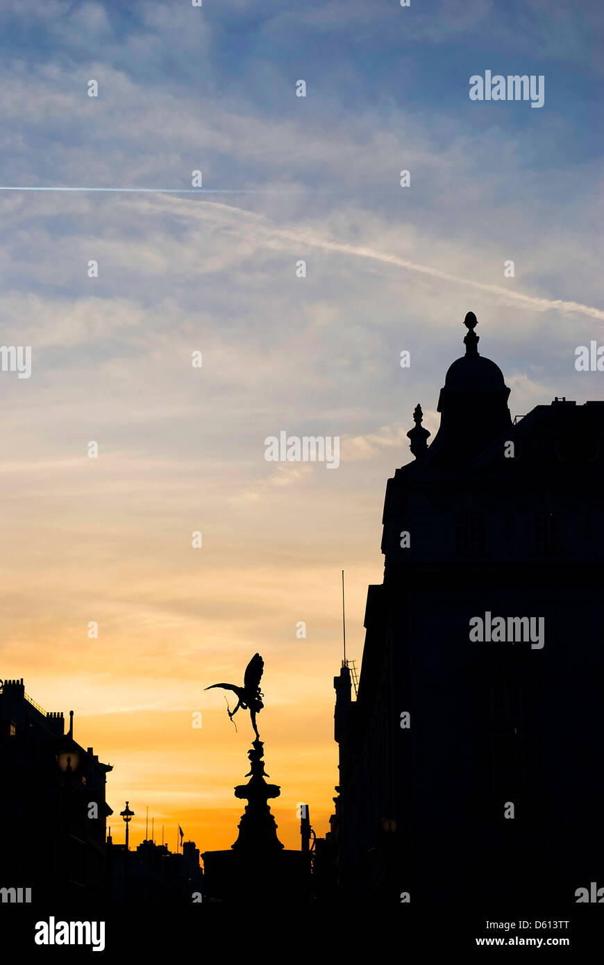 Eros statue of Piccadilly Circus, London - Stock Image