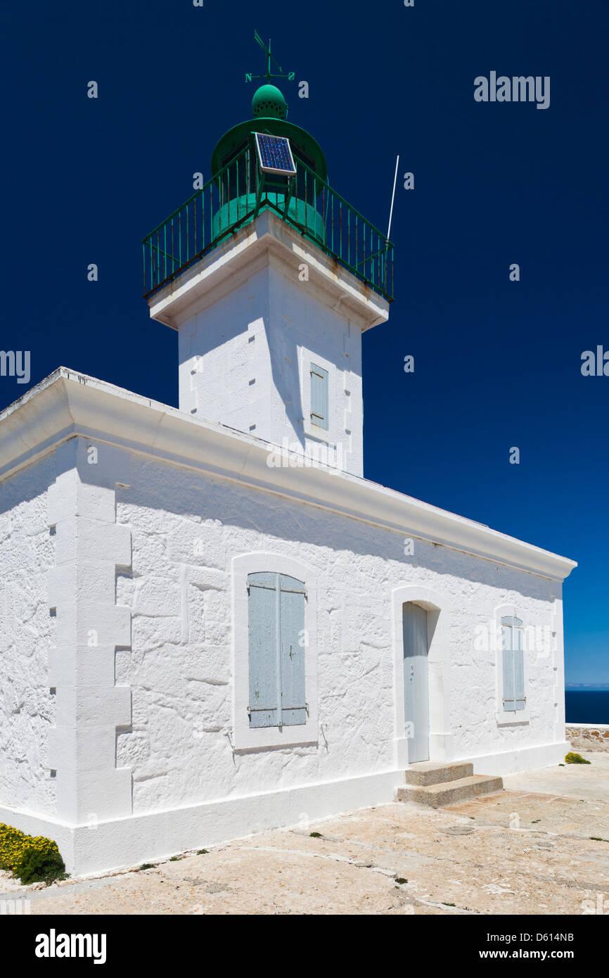 France, Corsica, La Balagne, Ile Rousse, Ile de la Pietra, lighthouse - Stock Image