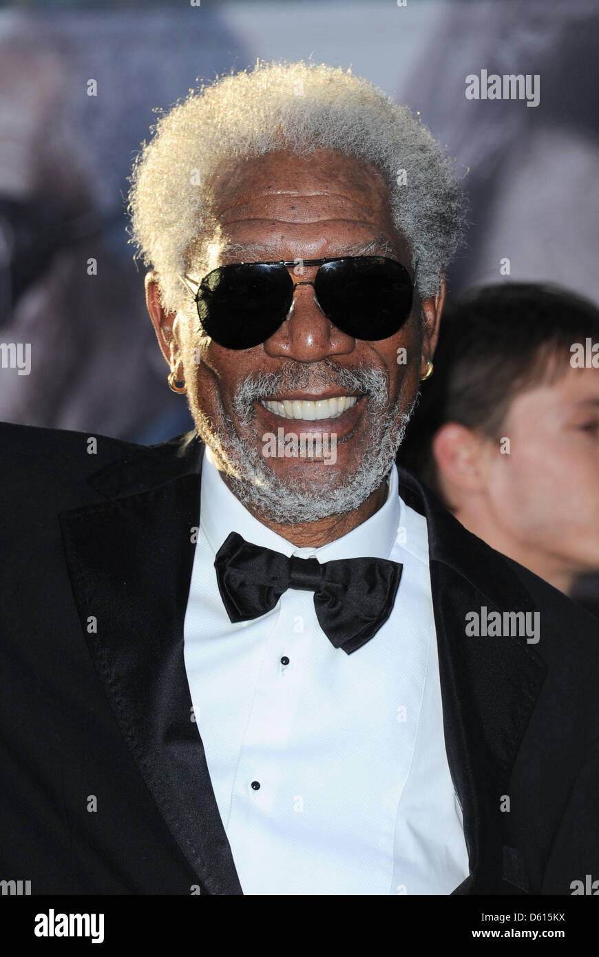 Los Angeles, California, USA. 10th April 2013. Morgan Freeman arrives at the Oblivion film premiere in Los Angeles, - Stock Image