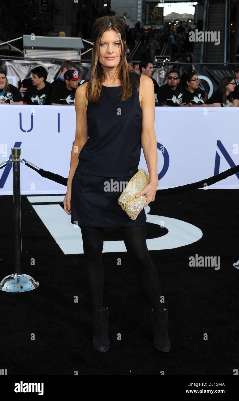 Los Angeles, California, USA. 10th April 2013. Michelle Stafford arrives at the Oblivion film premiere in Los Angeles, - Stock Image