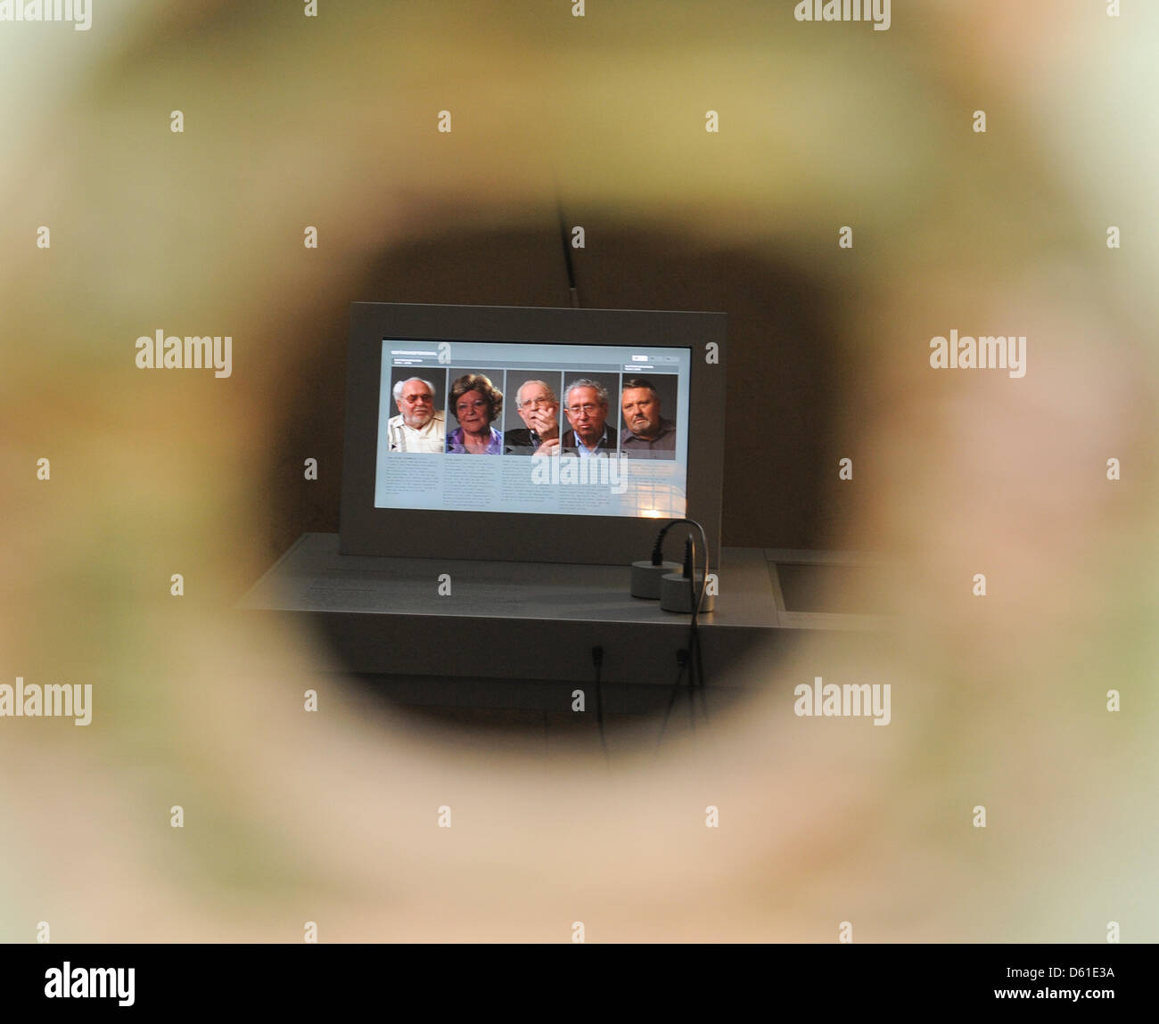 View into a cell of the KGB Memorial in Potsdam, Germany, 18 April 2012. The new exhibition in the former KGB Prison - Stock Image