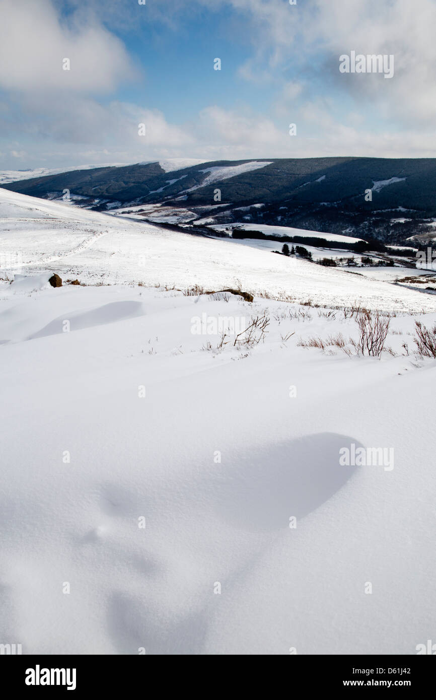 Ben Rinnes; Snow; Moray; Scotland; UK - Stock Image