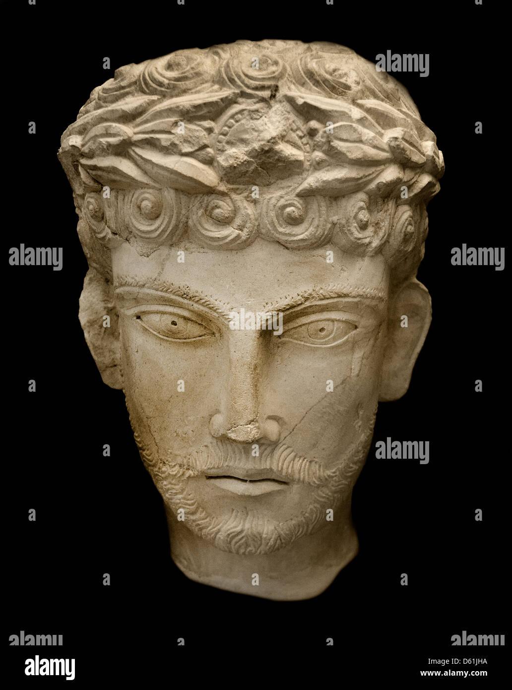 2 Cent Palmyra Syria Syrian Museum Archeology - Stock Image