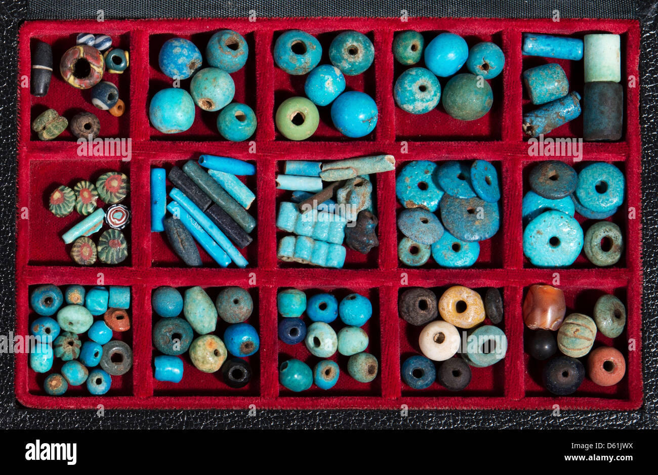 Roman and Hellenistic Glass Beads and Faience - Stock Image