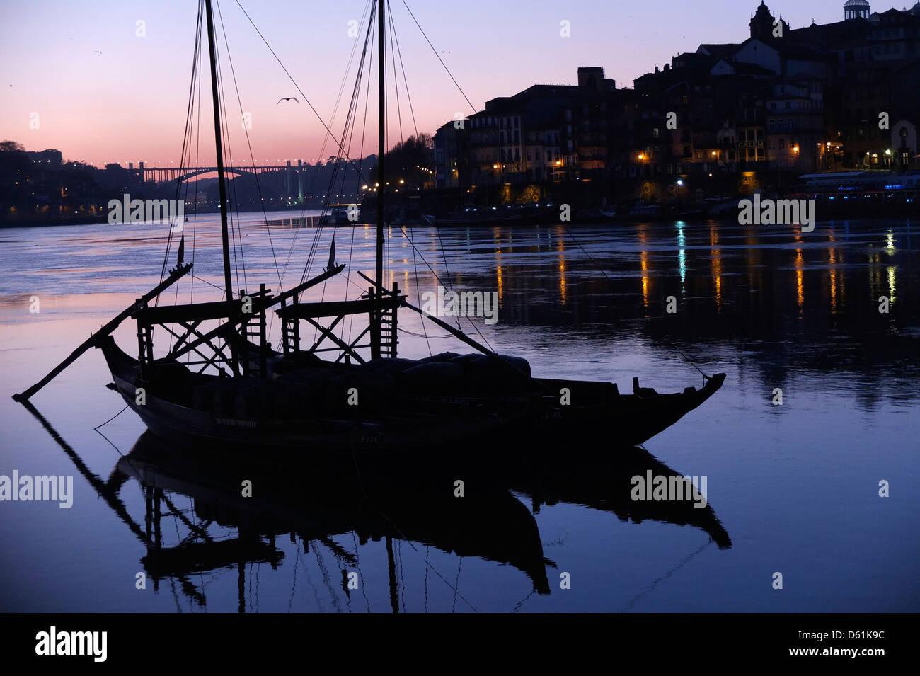 Portugal, Porto, view, Douro, River, Ribeira, - Stock Image