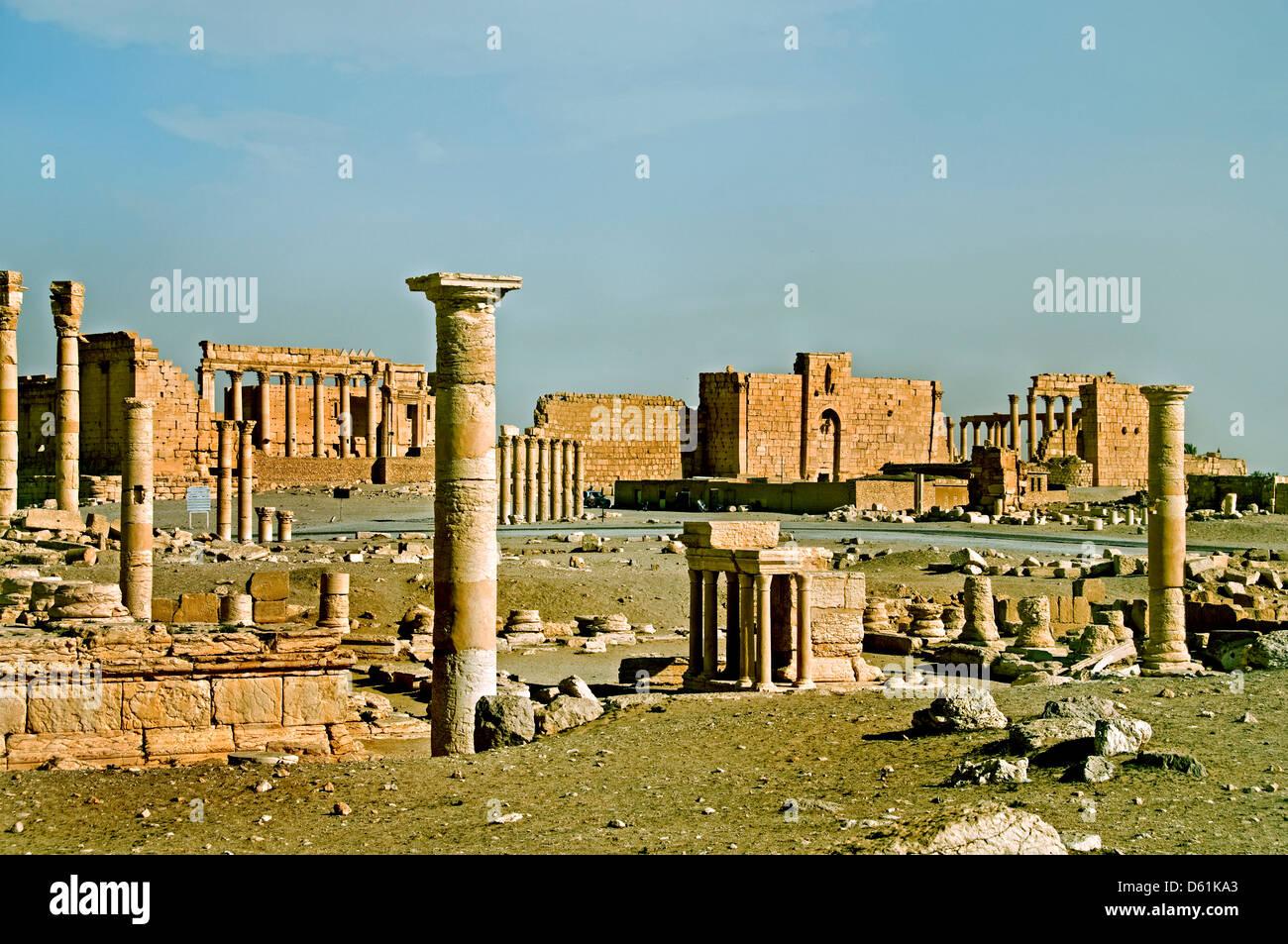 2 Cent Palmyra Roman Syria Syrian Archeology - Stock Image