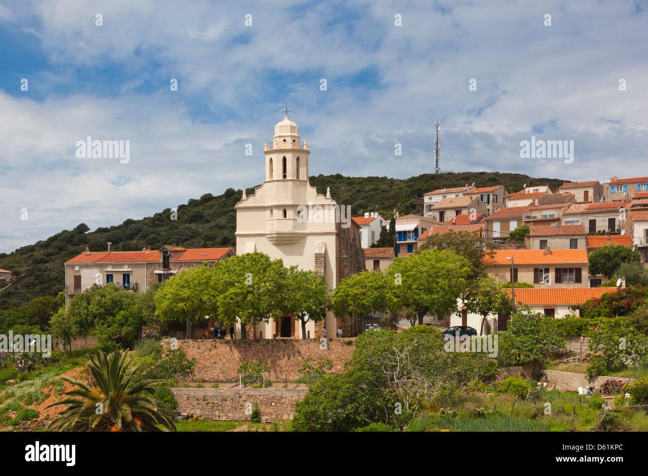 France, Corsica, Cargese, Eglise Catholique de Rite Grec, Greek church, exterior - Stock Image
