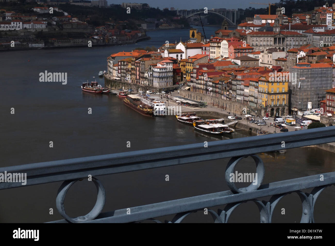 Portugal, Porto, view, Douro, River, Ribeira, Stock Photo