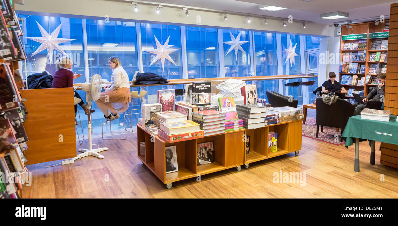 Eymundsson Book Store With A Small Cafe Reykjavik Iceland Stock Photo Alamy