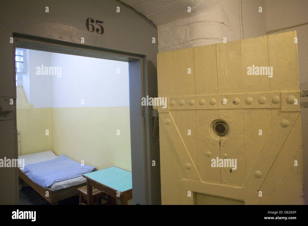 Display in Stasi Museum dedicated to exposing the oppressive rule of Germany's secret police during the post Stock Photo