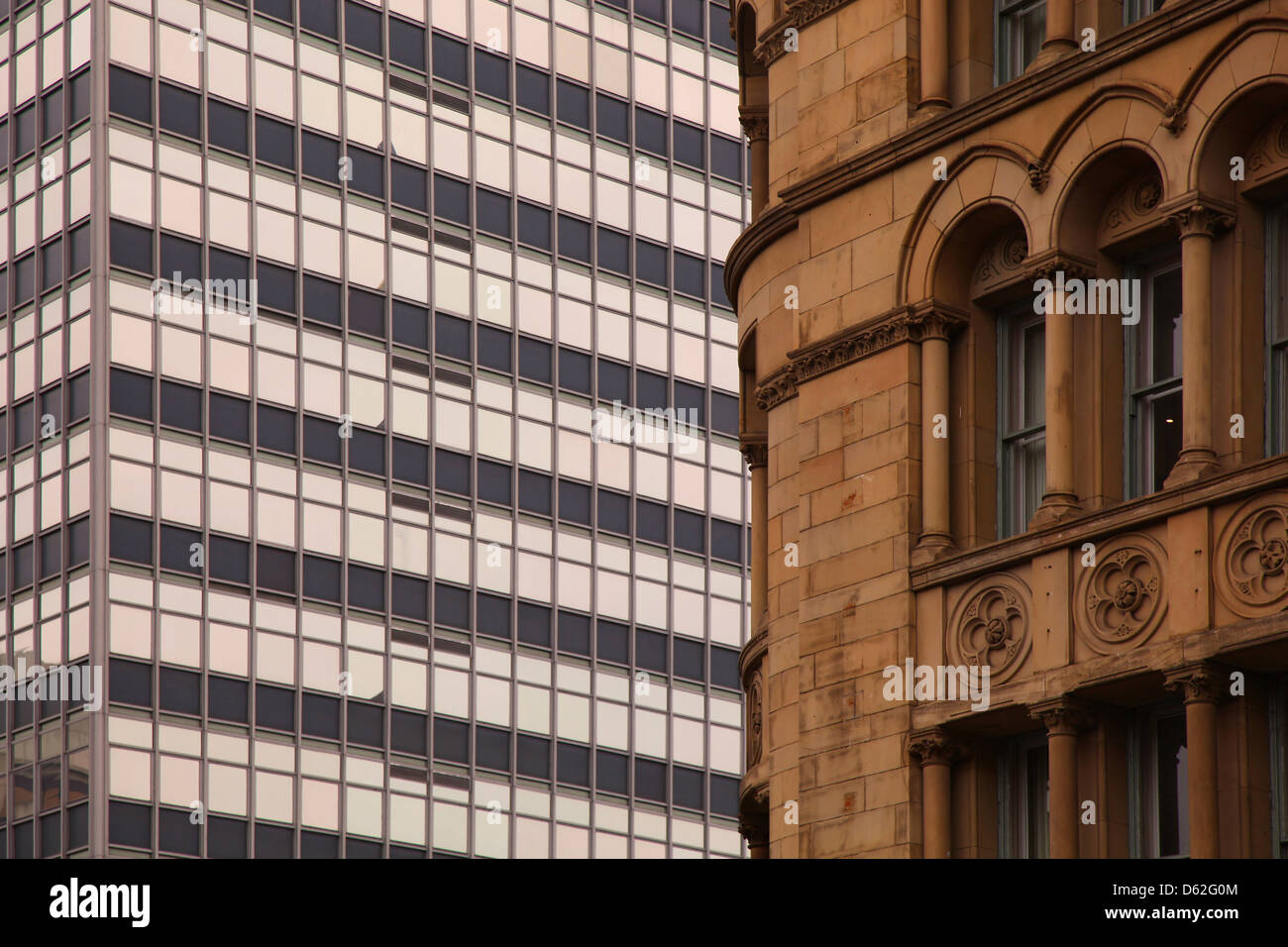 Culture clash architectural differences in style and Era - Stock Image